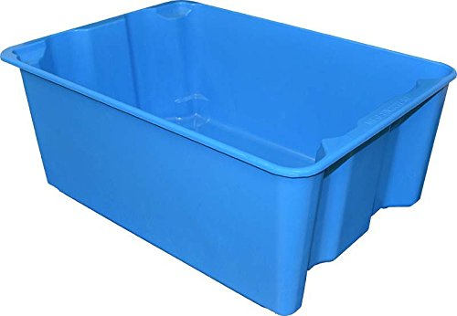 Blue Glass Fiber Reinforce Plastic Composite Toteline 7806085268 Nest and Stack Container 25.25 x 18.0 x 10 Capacity 500 lb