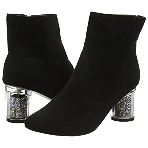 2dceb78821c venta caliente 2017 Boohoo Annie Clear Glitter Heel Ankle Boot ...
