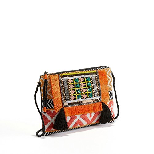 La Redoute Collections Frau Clutch Im Ethnostil Gre Taille Unique Weiss