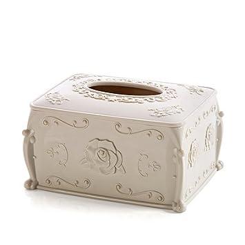 CWAIXX Servilleta tejido cajas mesa de centro casera libro caja la sala almacenamiento caja servilleta, M nórdico: Amazon.es: Hogar