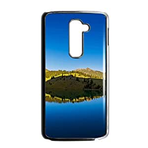 Clear Lakes And Green Mountains Black Phone Case for LG G2