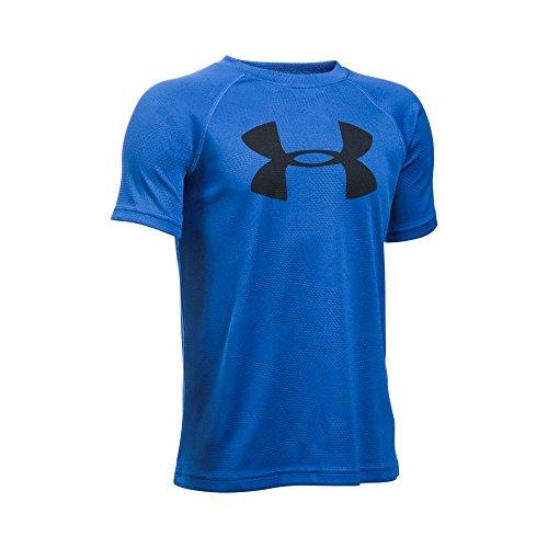 Under Armour Boys' Tech Big Logo Printed Short Sleeve T-Shirt, Ultra Blue/Black, Youth X-Large