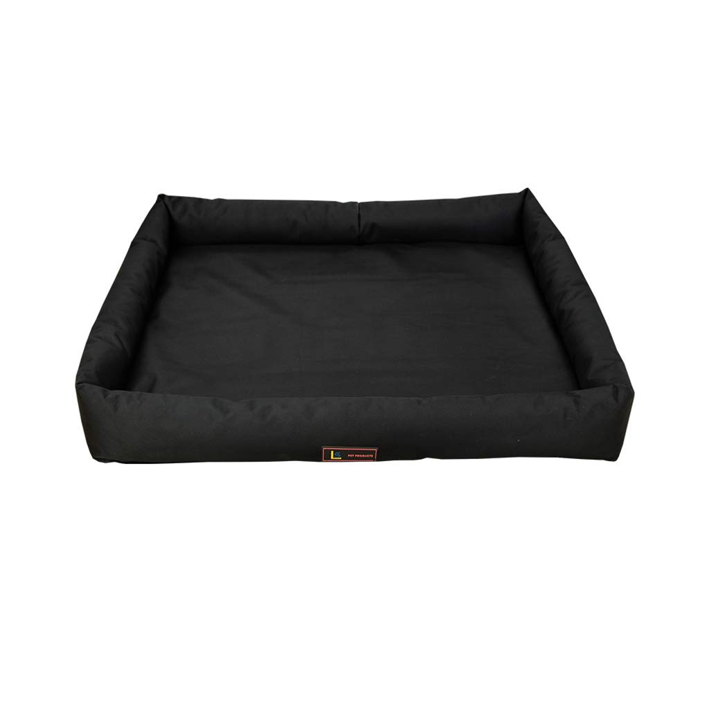 Oxford Black 56x45x5cm Oxford Black 56x45x5cm PLDDY Pet Nest Dog Mat Non-stick Hair Bite Resistant Dirt Waterproof Washable Oxford Nylon Material Four Seasons General Teddy golden Hair Small Medium And Large Dog Kennel