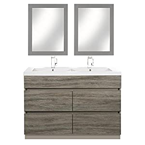 Cutler Kitchen U0026 Bath Boardwalk 48 In. Handless Double Bathroom Vanity