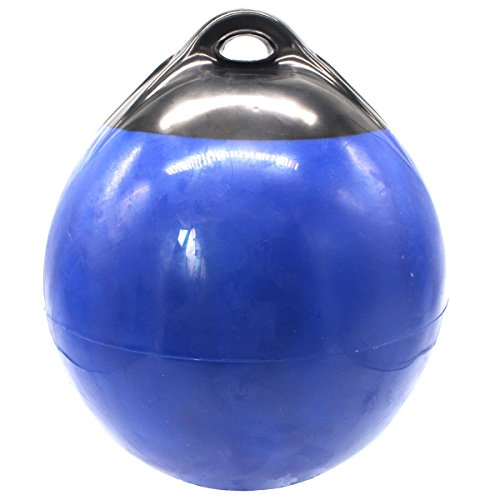 (X-Haibei 1 Boat Fender Ball Round Anchor Buoy, Dock Bumper Ball Inflatable Vinyl A Series Shield Protection Marine Mooring Buoy Blue, A25(D9.8 H12.2INCH) )