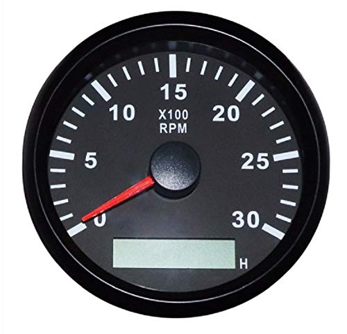 ELING Waterproof Tachometer REV Counter RPM Gauge with Hour Meter 0-3000RPM 85mm 9-32V with Backlight