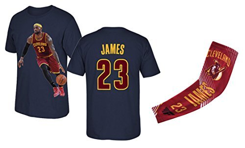 Basketball T-shirt Shorts - Lebron James T-shirt Kids Basketball James Navy T-shirt Gift Set Youth Sizes ✓ Premium Quality ✓ Gift Basketball James Arm Sleeve (YL 10-13 Years Old, James)