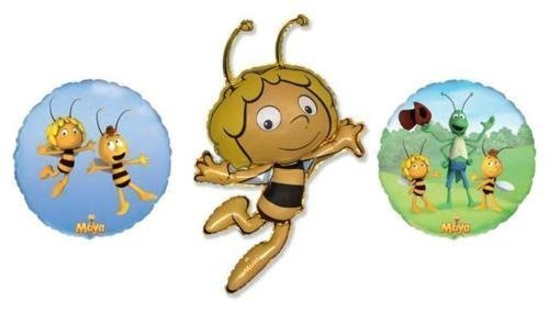 Maya The Bee Party Supplies (Maya The Bee Foil Balloons (3 Pack, 1 of Each)