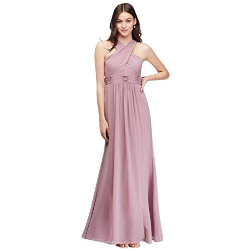 Fairy Tale Chiffon Dress (Cross-Front Chiffon Bridesmaid Dress Style AP2E203341, Dusty Rose,)