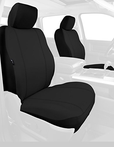 Fia SP88-32 BLACK Custom Fit Front Seat Cover Bucket Seats - Poly-Cotton, (Black) ()