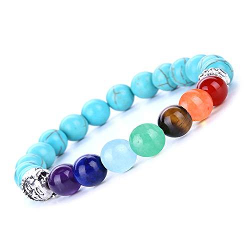 Bestdays Semi Precious Stone Bracelet Chakra Ctystal Healing Balancing Reiki Yoga Jewelry Buddha - Mothers Personalized Precious Semi Bracelet