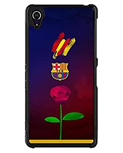 Football Club Barcelona Sporting Club Guayaquil Xperia Z2 Funda Case, Personalized Scratch-Proof Anti Slip Snap On Back Funda Case Cover For Sony Xperia Z2 - By Talltowerell (Only For Sony Z2)