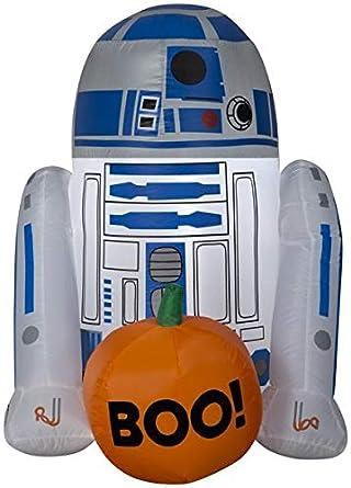Amazon.com: Gemmy 3 Airblown R2 D2 w/Boo calabaza Star Wars ...