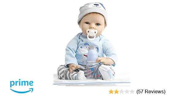 33ef39db228c Amazon.com  NPK Collection Reborn Baby Doll realistic baby dolls 22 ...