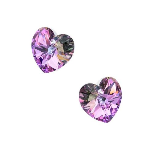 Swarovski Crystal, 6228 Heart Pendants 14mm, 2 Pieces, Vitrail Light