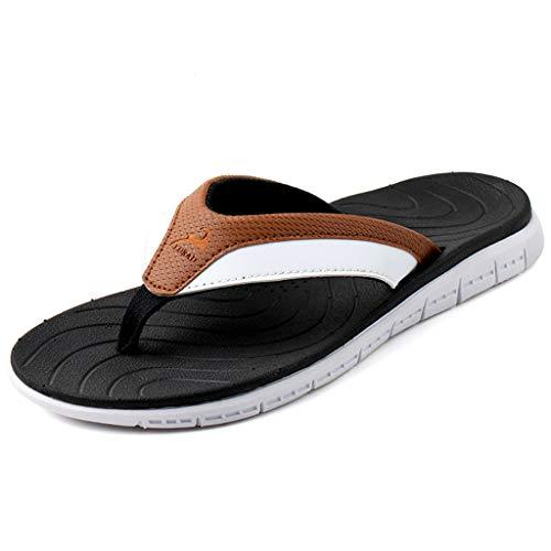 décontractées voyagent des d'hommes Pantoufles épaissies d'été Plage de Brwon Chaussures Les Pantoufles Centrale d'été de d'intérieur antidérapantes d'unité 7qHaP4U