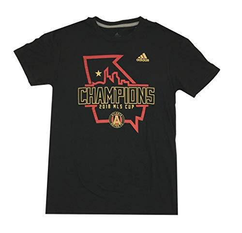 adidas Atlanta United Go to Performance Short Sleeve T-Shirt-Black-XL