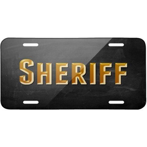 ASUIframeNJK Sheriff Metal License Plate 6X12 Inch
