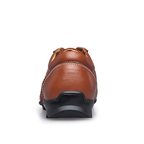 Dekesen Herenmode Sneaker Vaughn Lederen Sneaker Bruin