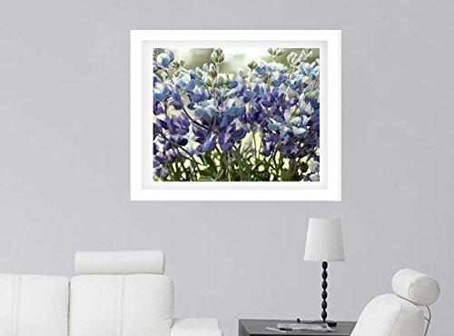 Bluebonnet Photography Print, Texas Flower Art, Wildflowers Floral Art, Shabby Chic Country Rustic Farmhouse Decor, Bathroom Bedroom Wall Art, Nature Artwork, Large Print