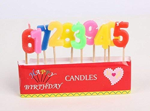 Mini Colored Number CandlesHoyoo 0 9 Digital Birthday Candles Large Cake