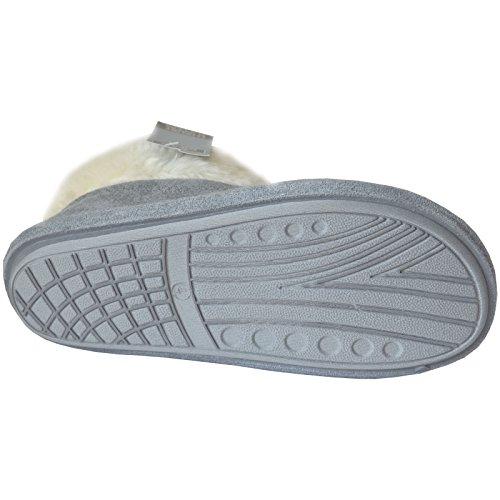 Xelay - botas pantuflas mujer gris