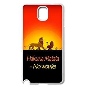 Unique Phone Case Pattern 6Hakuna Matata Lion King- For Samsung Galaxy NOTE3 Case Cover