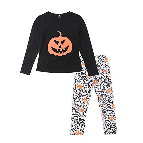Cartoon Print Pumpkin Family Matching Clothes, Halloween Style Pajamas for Adult&Kids -
