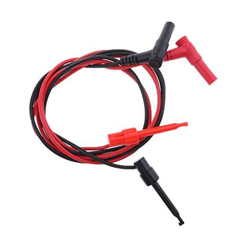 gazechimp 1Meters Multimeter Test Leads Probes 2X Hook Clip to 2X Banana Plugs - Electronic Meter 60 Mm
