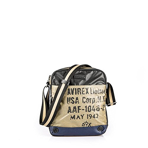 Borsello Uomo Medio | Avirex 1492 | AVX149202A-Beige/black/blue