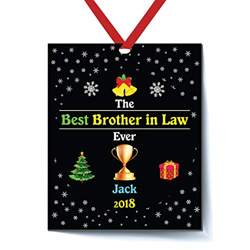 Brother Big Personalized Ornament (Best Brother in Law Ever Personalized Christmas Ornament - Brother in Law Christmas Ornament 2018 - Best Brother in Law Ever - Personalized Brother in Law Christmas Ornament 2018 - Brother in Law)