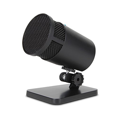 Cyber Acoustics USB Condenser Microphone for Podcasts, Gaming, Vocal, Music, Studio and Computer Recordings - Mic compatible with PC and Mac - Cardioid/Directional Recording Pattern (CVL-2001) (Desktop Acoustics Cyber Usb)