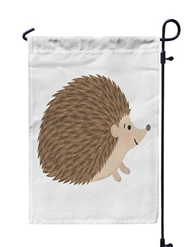 GROOTEY Welcome Outdoor Garden Flag Home Yard Decorative 12X18 Inches Hedgehog Double Sided Seasonal Garden Flags