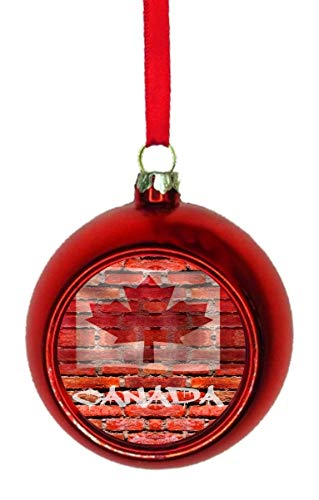 Rosie Parker Inc. Flag Canada - Canadian Brick Wall Print Maple Leaf Flag  Bauble Christmas - Amazon.com: Rosie Parker Inc. Flag Canada - Canadian Brick Wall