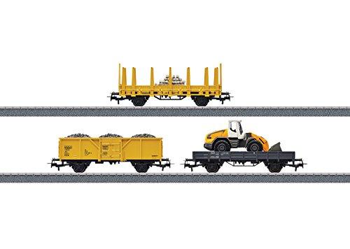 Marklin Starter Sets (Construction Site Starter Set Extension Set - 3-Rail w/Digital - Start up -- 3 Cars & Siding Track Addition for #441-29184)