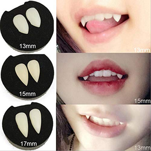 Cheapest Halloween Animatronics (Best Design 2pcs Halloween Cosplay Vampire Zombie Fangs Werewolf Teeth Dress Costume Tooth, Vampire Costume Fangs - Vampires Teeth, Halloween Devil Props, Costume Teeth, Vampire)