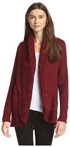 James & Erin Women's Wide Shawl Collar Cardigan Sweater