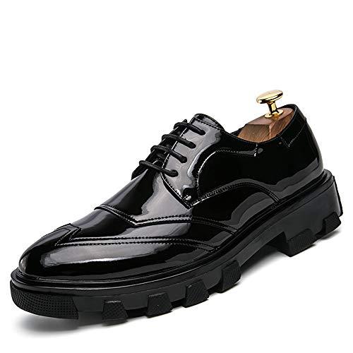 all'abrasione britannico uomo Confortevole brogue casual verniciata Oxford pelle stile da Sunny Fashion Resistente Moda in amp;Baby Nero scarpe Ix0wqz6Sa