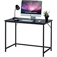 Fineboard 39 Home Office Computer Desk Writing Table, Black