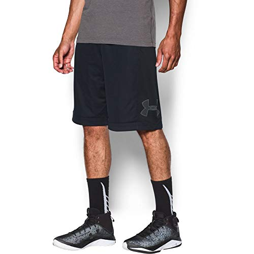 (Under Armour Men's Isolation Basketball Shorts, Black /Graphite, Large )