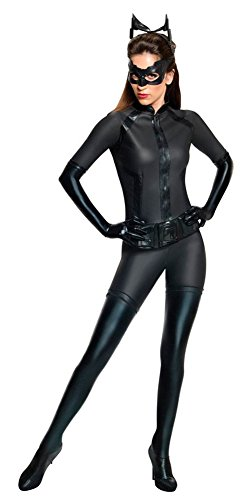 Rubie's Batman The Dark Knight Rises Grand Heritage Deluxe Catwoman Costume, Black, (Turn Black Dress Into Halloween Costume)