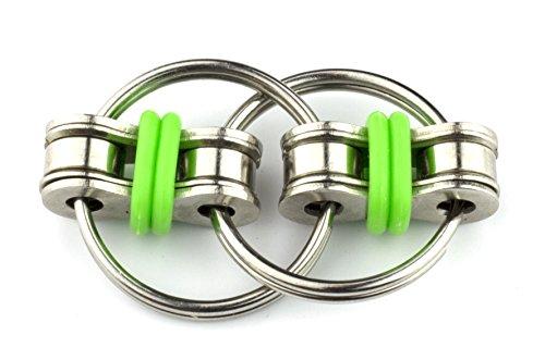 Tom's Fidgets Flippy Chain Fidget Stress Reducer Toy - Green - 3
