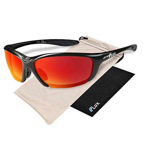 Flux Sunglasses for Men and Ladies: Polarized UV Protection Sports Sunglasses for Baseball, Golf, Hunting, Running, Driving; Specialized Bike Equipment, Climbing Gear & Shooting Glasses for Gifts – DiZiSports Store