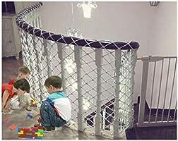 Red de seguridad blanca, protección de escaleras para el hogar decoración neta protección de la construcción neta cerca de la cuerda de nylon red de seguridad red de personalización personalización: Amazon.es: Deportes