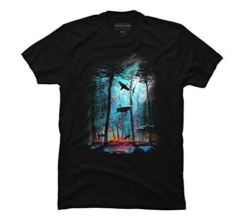 Black Tee Design (Shark Forest Men's Medium Black Graphic T Shirt - Design By Humans)