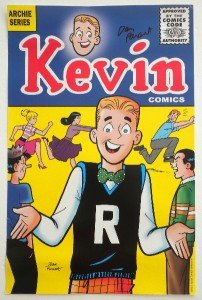 Signed Dan Parent Kevin Archie Comics Promo Poster San Diego Comic Con 2013