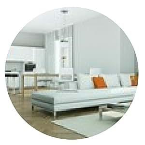 alfombrilla de ratón Moderno diseño de interiores Wohung - ronda - 20cm