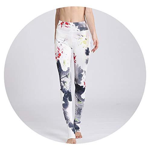 Stree Corner Yoga Pants Print Sport Pants Women Fitness Gym Trousers Sportswear Tights Yoga Leggings,HK146,L
