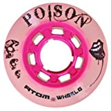 Atom Poison Pink Roller Derby Skate Wheels W/ Bonus Devaskation Bag (59mmX38mm)
