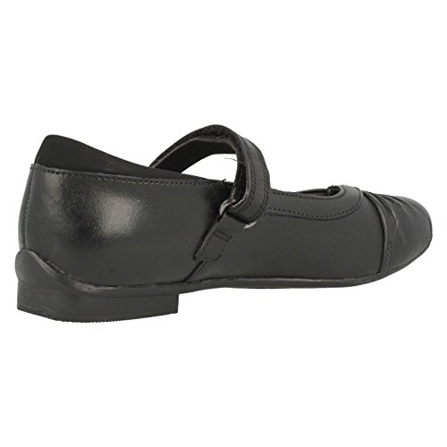 Clarks to School Dolly Shy Inf Chaussures en cuir Noir